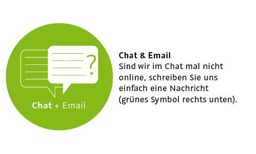 Naturholzmöbel - Chat und E-Mail